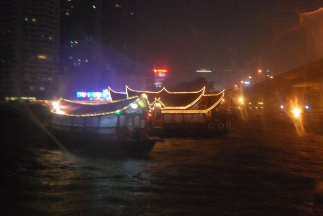 Boats At Night David Bonnie Bangkok Thailand davidbonnie.com