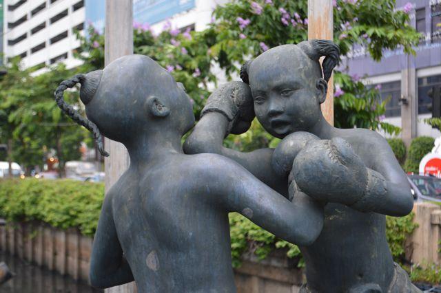 Thailand boxing Statue David Bonnie Bangkok Thailand davidbonnie.com