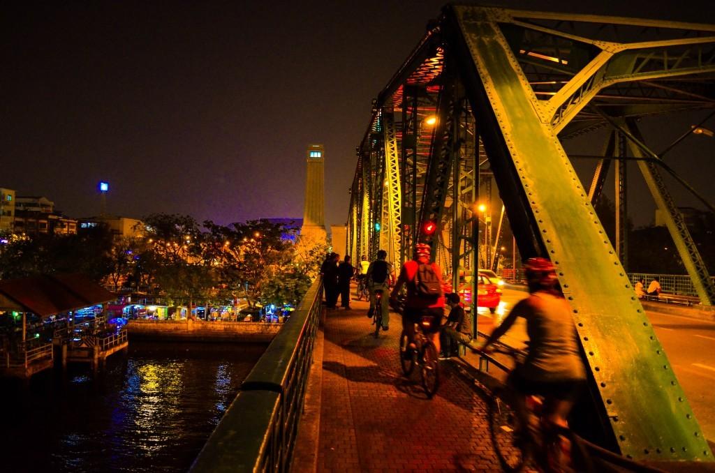 Thailand Bridge At Night David Bonnie Bangkok Thailand davidbonnie.com