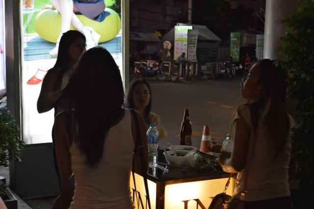 Thailand Four Women at Night David Bonnie Bangkok Thailand davidbonnie.com