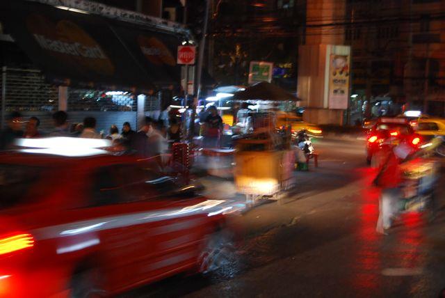 Taxis At Night David Bonnie Bangkok Thailand davidbonnie.com