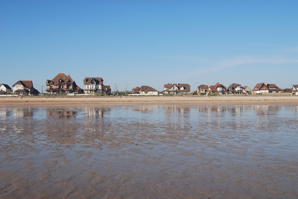 Houses were once German emplacements-Up Sword Beach